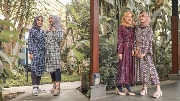 Ide Ootd Baju Lebaran Gdd0 8 Ide Padu Padan Busana Hijab Kembaran Dengan Saudara