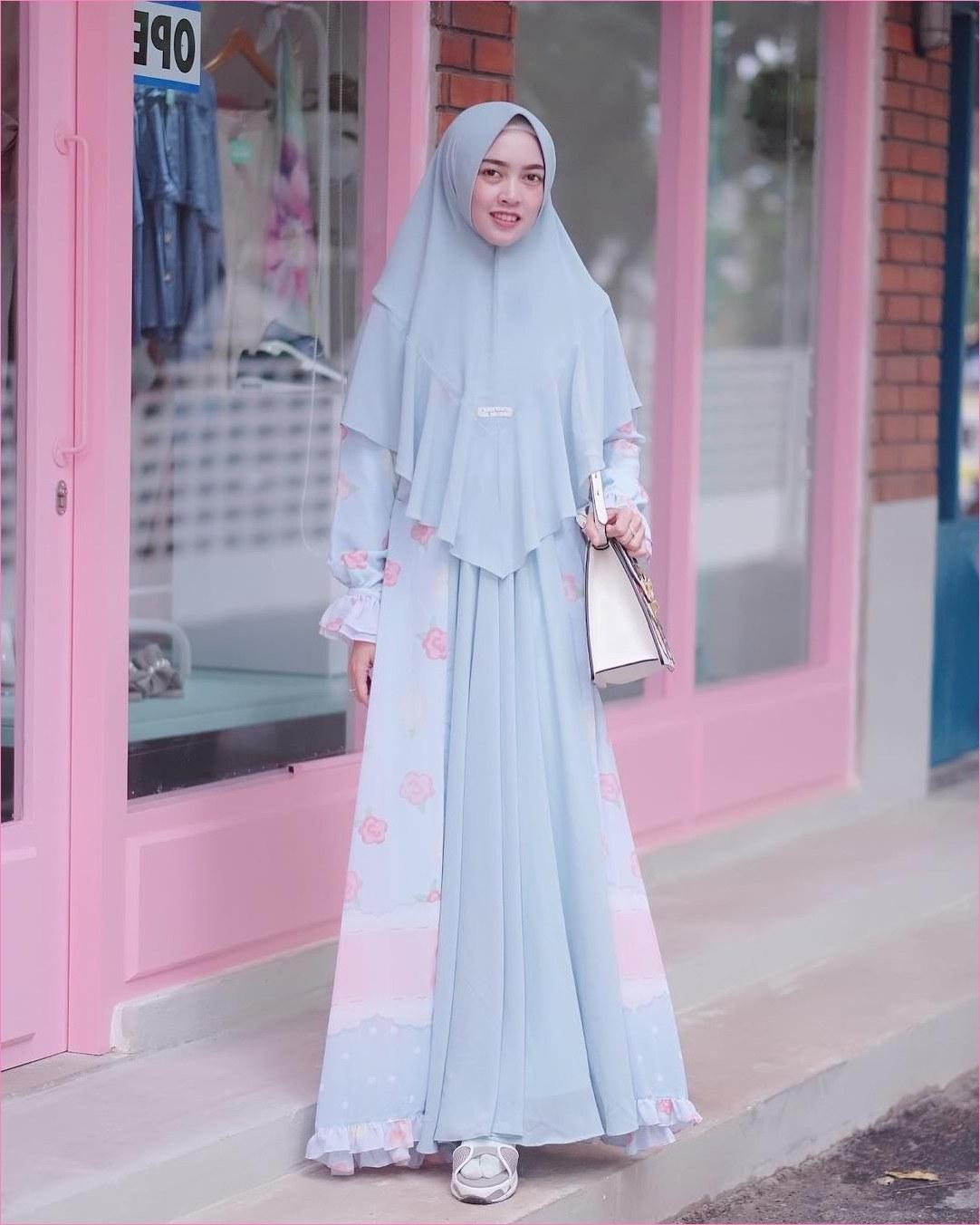 Ide Ootd Baju Lebaran Rldj Outfit Baju Gamis Berhijab Ala Selebgram 2018