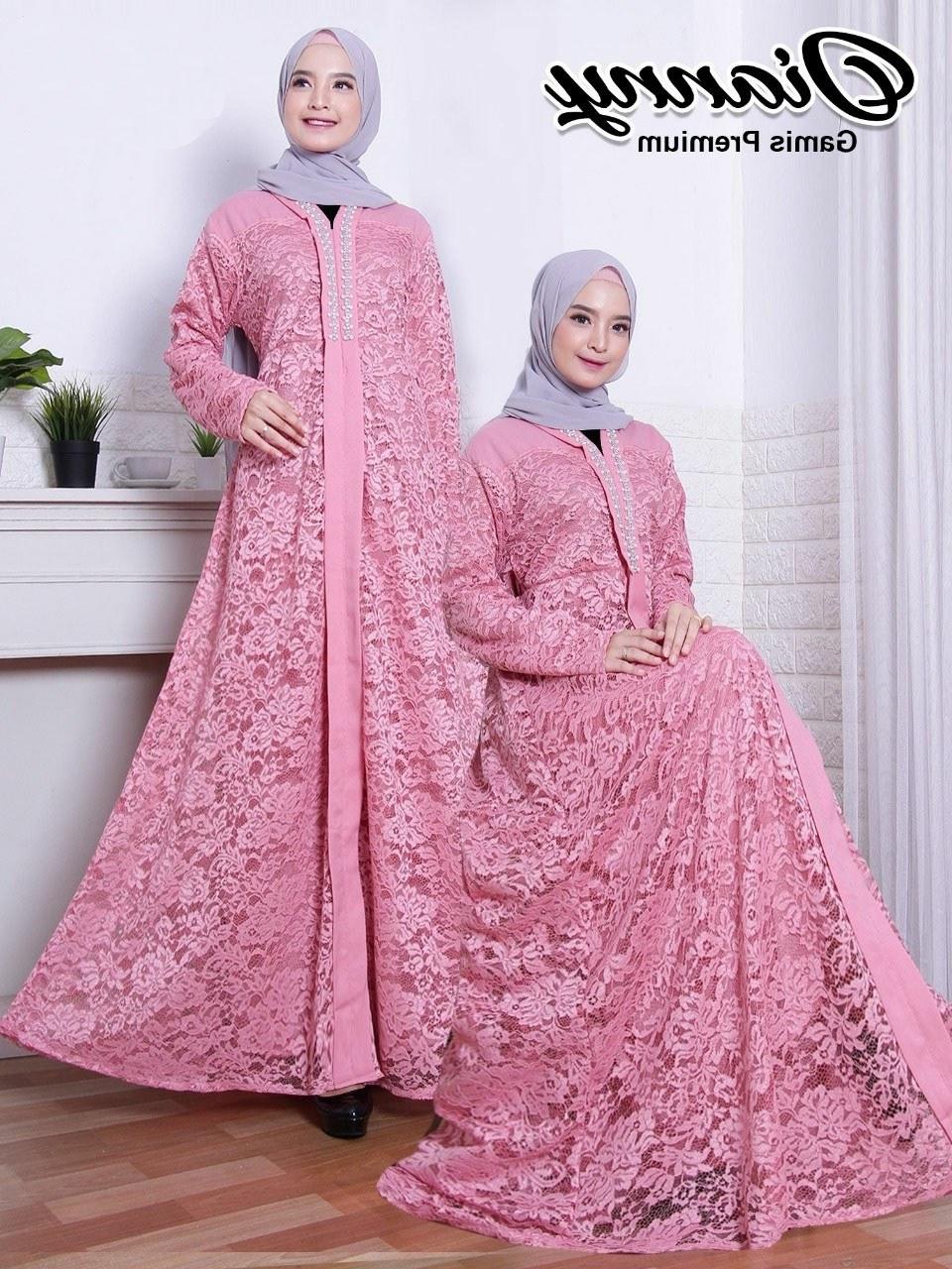 Ide Rekomendasi Baju Lebaran 2020 Kvdd Baju Gamis Brokat Lebaran 2020 Dianny Pink