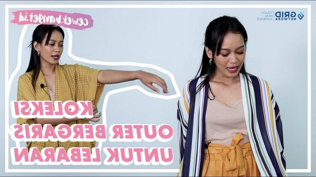 Ide Rekomendasi Baju Lebaran 2020 S1du Koleksi Outer Bergaris Untuk Outfit Lebaran Tanpa Hijab