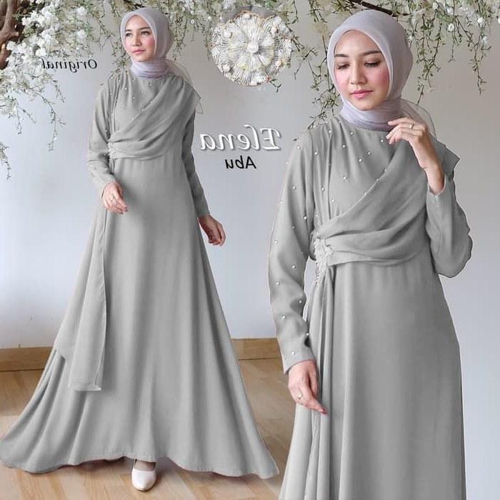 Ide Trend Warna Baju Lebaran 2019 Bqdd Gamis Pesta Muslimah Terbaru 2019 Elena Abu