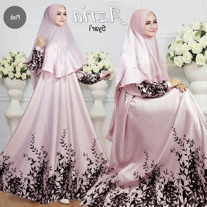 Ide Trend Warna Baju Lebaran 2019 Ipdd Baju Gamis Lebaran Syar'i 2019 Azria Gamiscantik