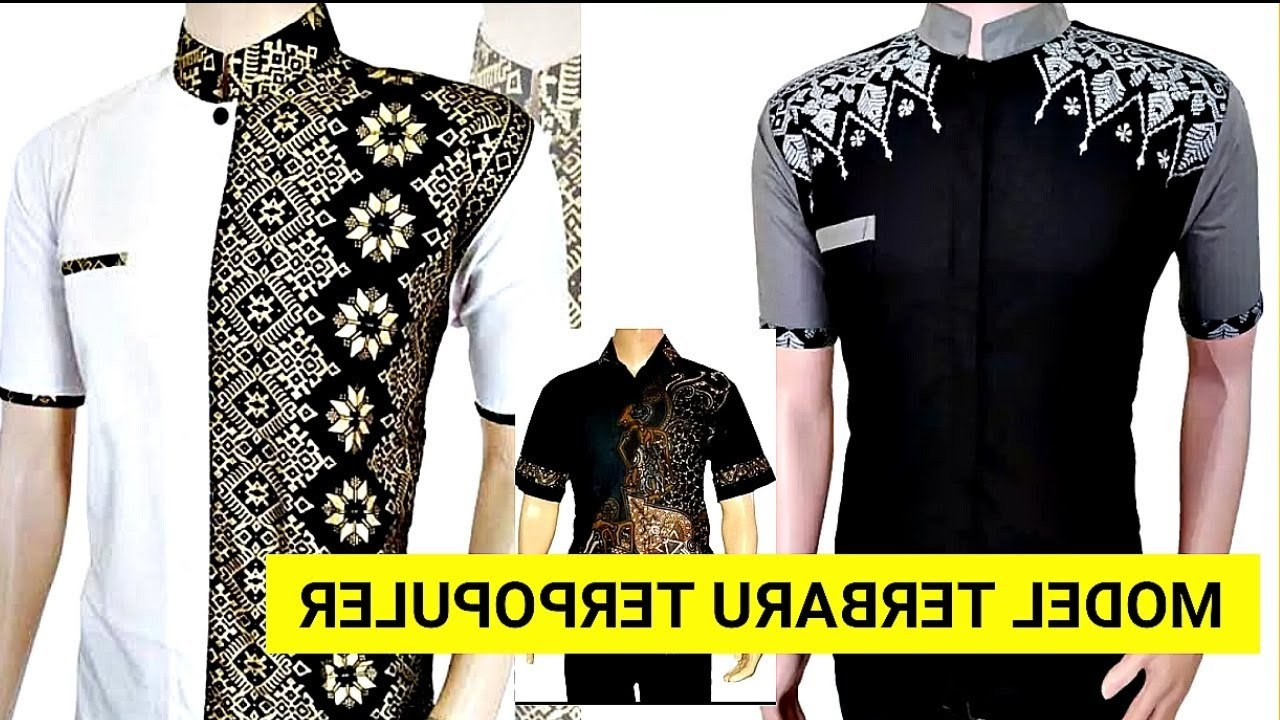 Inspirasi Baju Lebaran 2019 Pria Etdg 40 Model Baju Koko Pria Kombinasi Batik Lengan Pendek