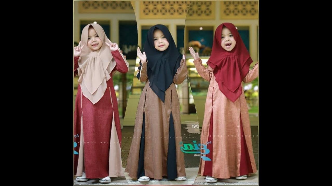 Inspirasi Baju Lebaran 2020 Anak Perempuan U3dh Baju Muslim Anak Perempuan Branded Terbaru 2019 2020