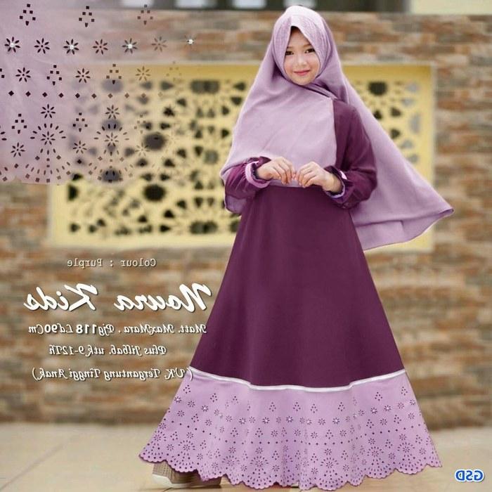 Inspirasi Baju Lebaran Anak Perempuan Umur 11 Tahun Drdp Baju Gamis Anak Syari Baju Muslim Anak Perempuan Hijab