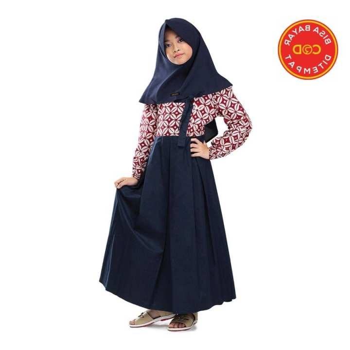 Inspirasi Baju Lebaran Anak Perempuan Umur 11 Tahun H9d9 Infikids Setelan Gamis Muslim Anak Perempuan Umur 6 12