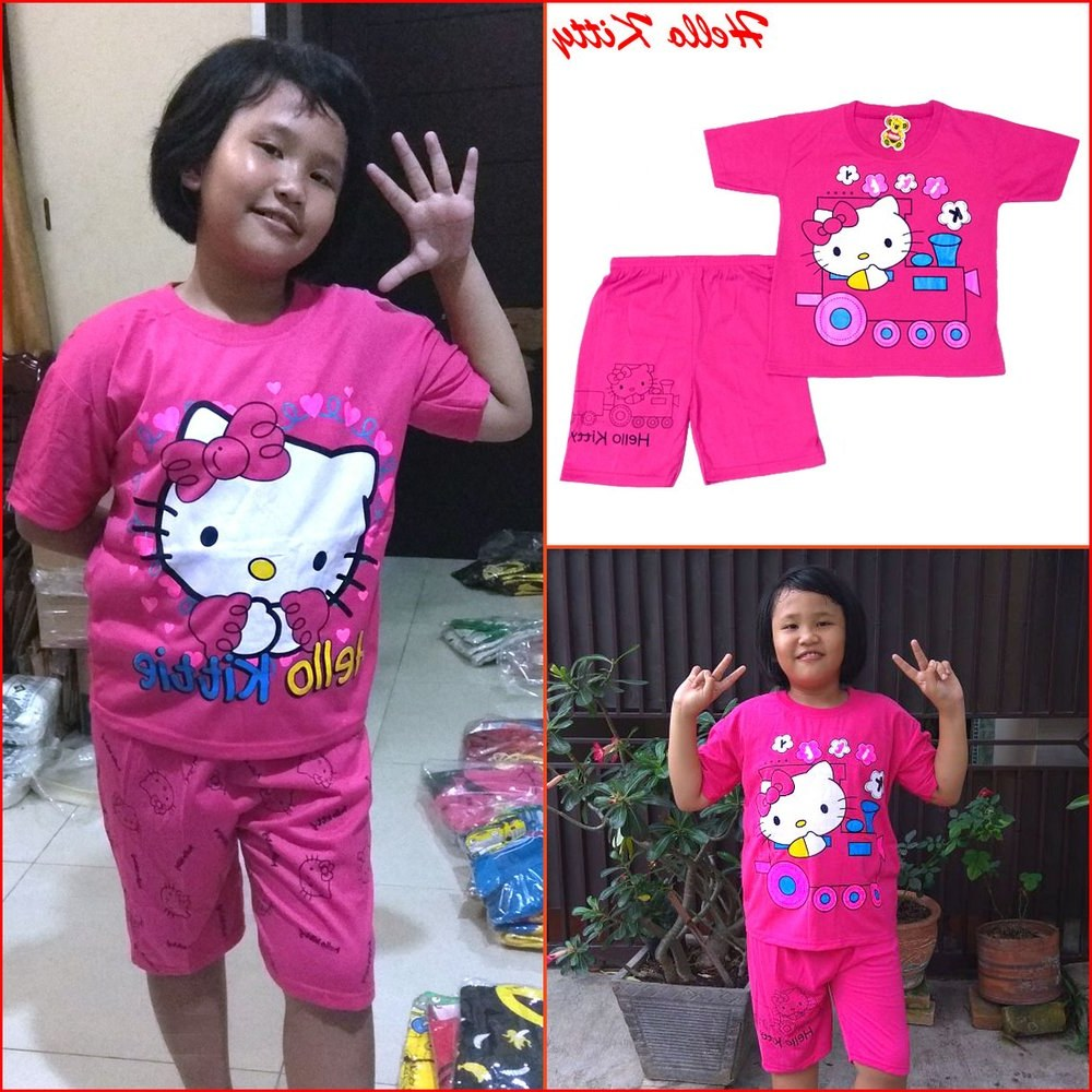 Inspirasi Baju Lebaran Anak Umur 10 Tahun Ipdd Jual Baju Anak Perempuan Hello Kitty Setelan Anak Frozen