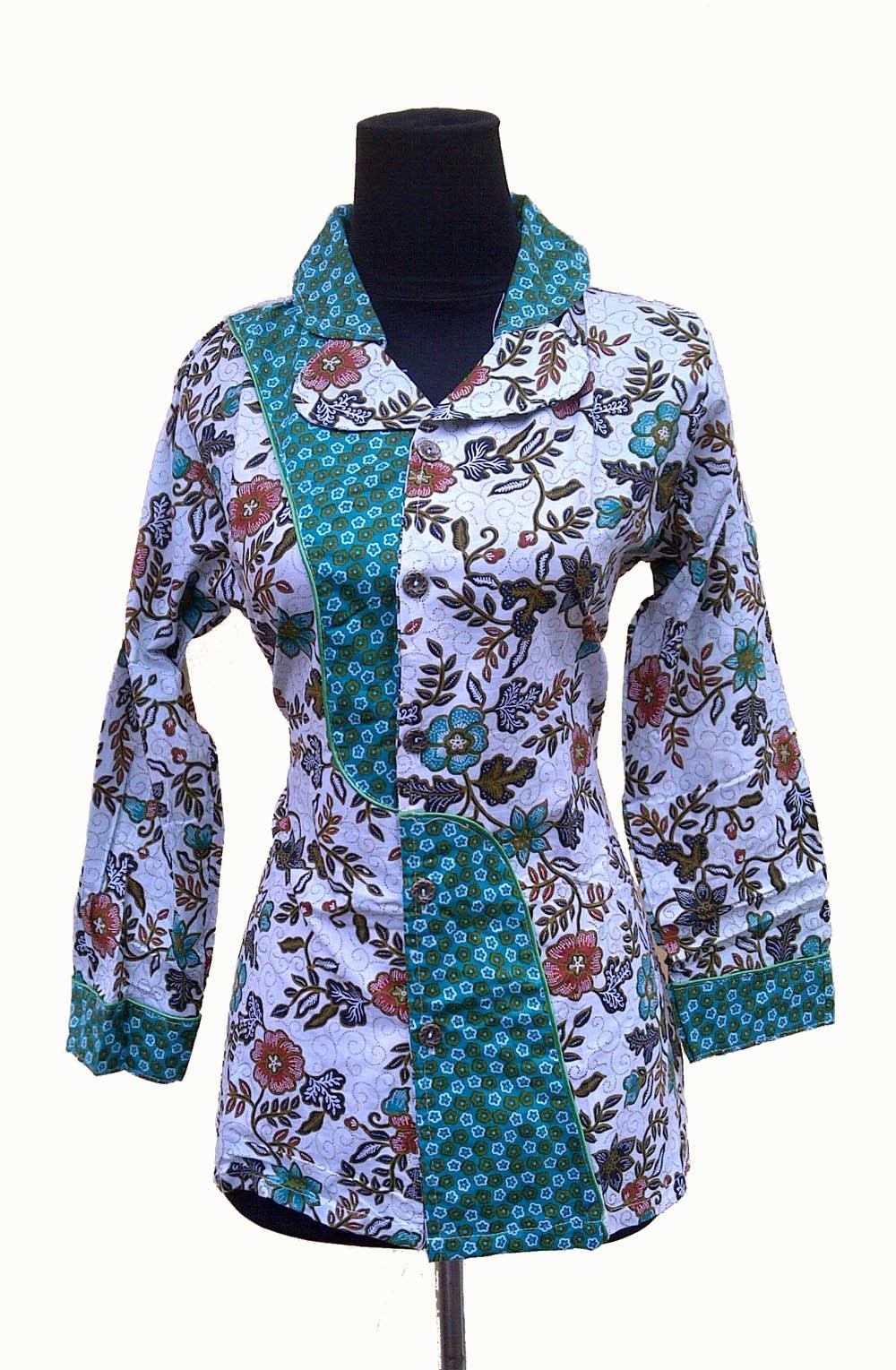 Inspirasi Baju Lebaran Batik S1du Baju Batik Modern Pekalongan – Kain Batik Bunga Mawar