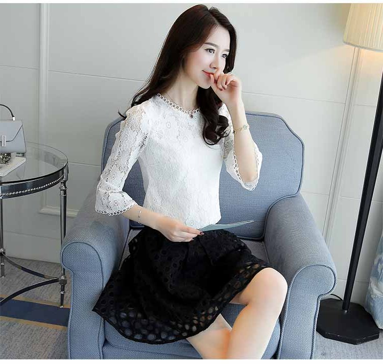 Inspirasi Baju Lebaran Brokat 2018 S5d8 Baju atasan Brokat Putih Import 2018
