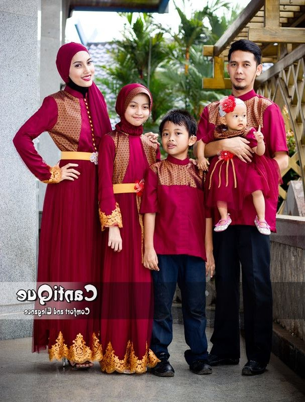 Inspirasi Baju Lebaran Buat Anak Ipdd 30 Model Baju Muslim Keluarga Untuk Pesta Pernikahan