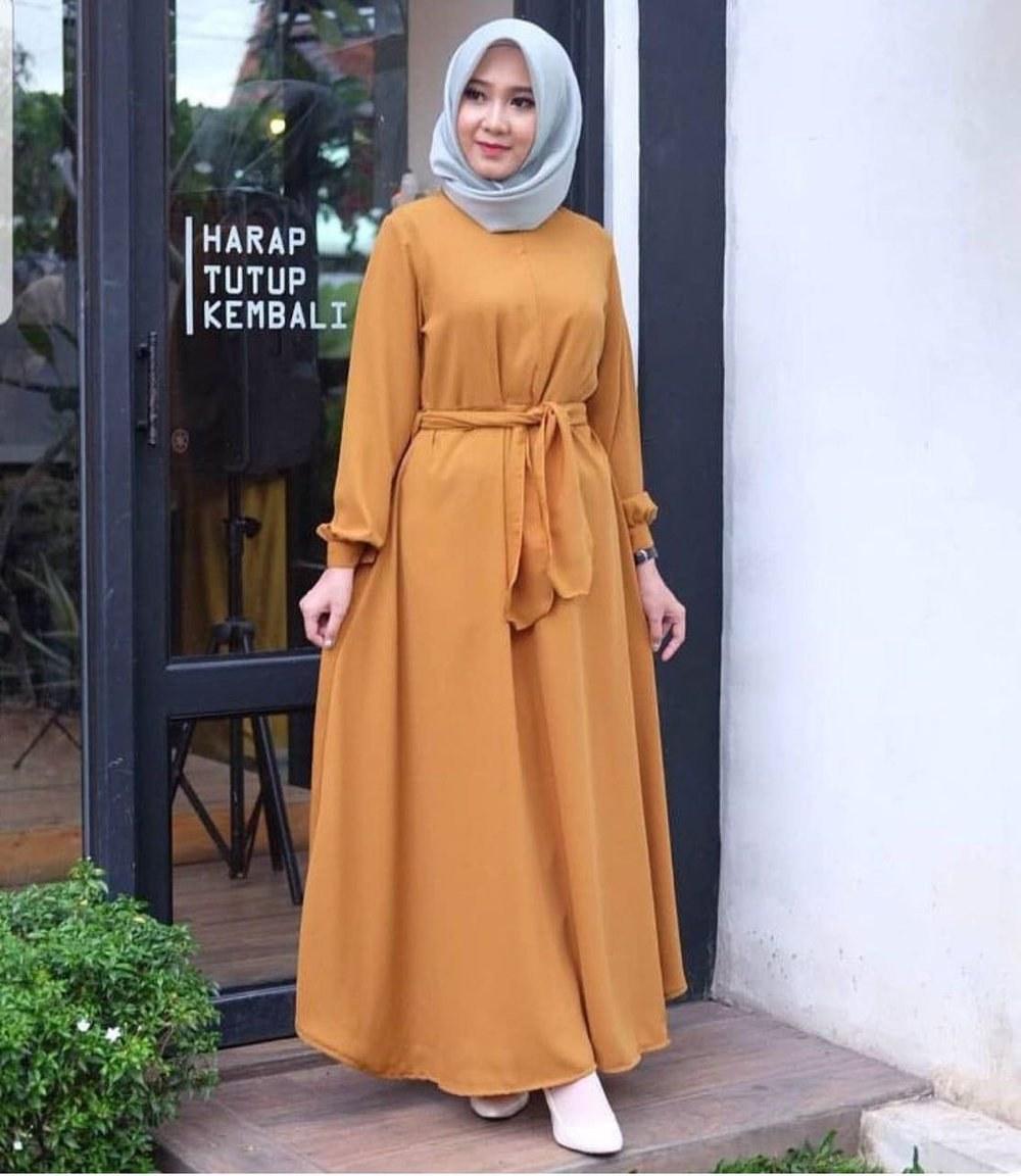 Inspirasi Baju Lebaran Gamis Tqd3 Jual Baju Syar I Hijab Panjang atasan Simple Blouse