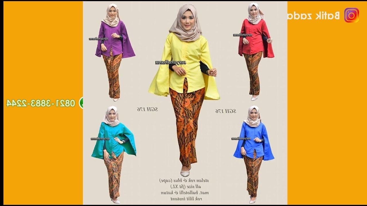 Inspirasi Baju Lebaran Ibu 2018 X8d1 Trend Model Baju Batik Wanita Setelan Rok Blus Terkini