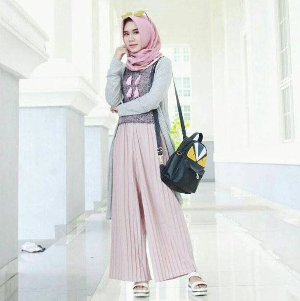 Inspirasi Baju Lebaran Kekinian 2018 Rldj ッ 40 Model Baju Muslim Wanita Modern Terbaru 2019