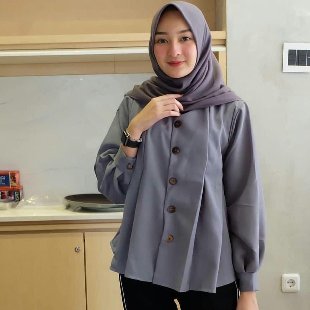 Inspirasi Baju Lebaran Kekinian 2018 U3dh Baju Wanita Terbaru 2018 Ahz08 Busana Kekinian Keren Dan