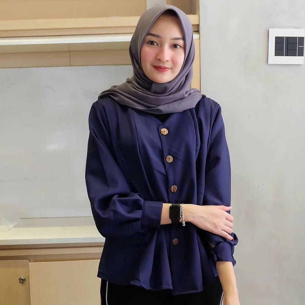 Inspirasi Baju Lebaran Kekinian 2018 Whdr Baju Wanita Terbaru 2018 Ahz07 Busana Kekinian Keren Dan