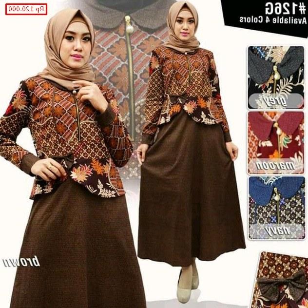 Inspirasi Baju Lebaran Kekinian 2019 H9d9 77 Model Baju Batik Muslim 2019 Modern Terbaru Remaja
