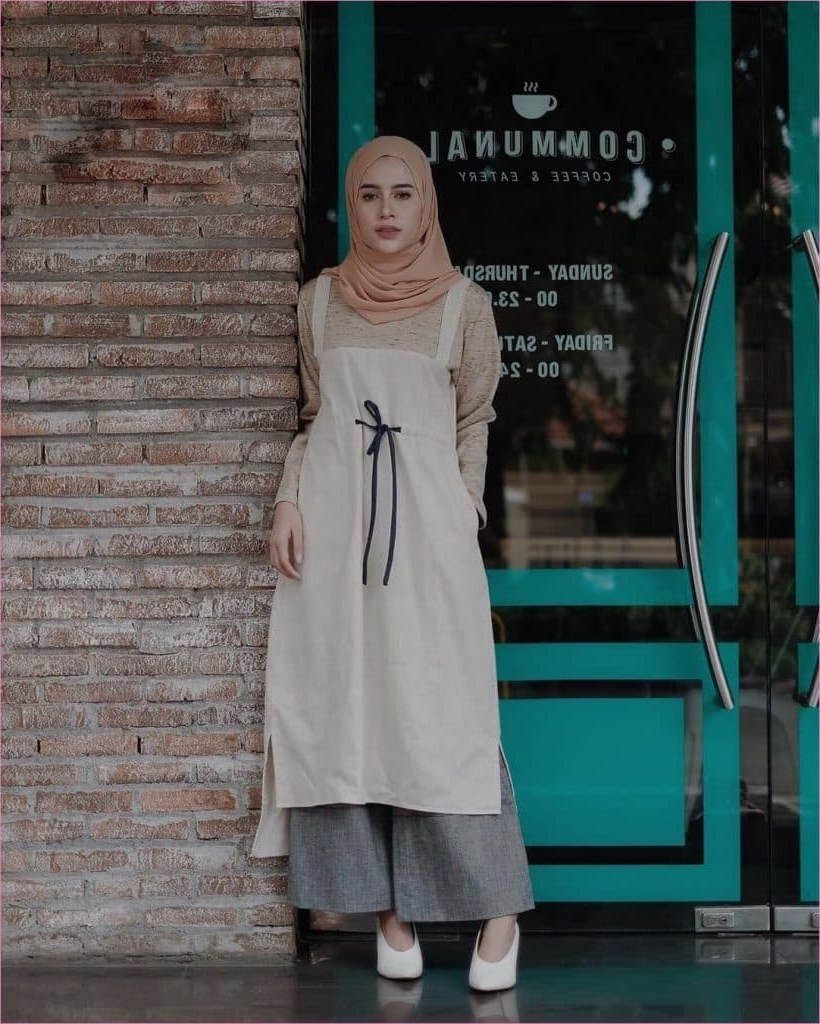 Inspirasi Baju Lebaran Kekinian 2019 Q5df 99 Model Baju Muslim Syar I Modern 2019 Gamis Dress