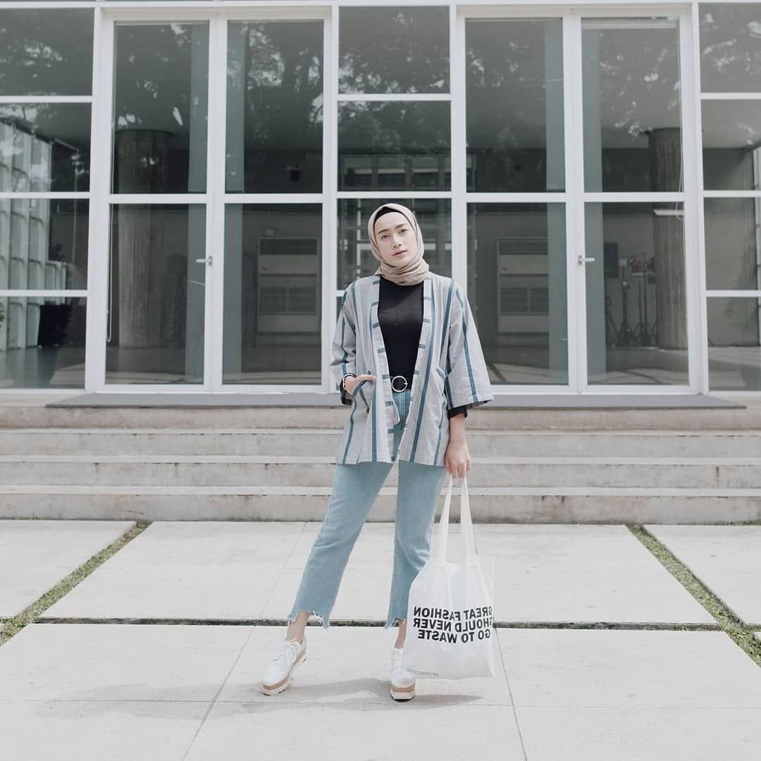 Inspirasi Baju Lebaran Kekinian 4pde Pin Di Ootd Baju Hijab Kekinian Ala Selebgram 2018