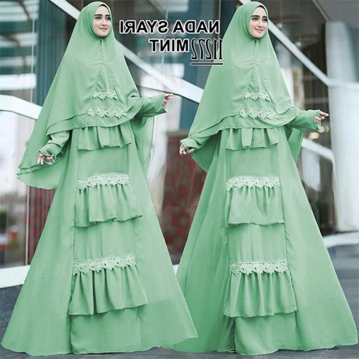 Inspirasi Baju Lebaran Kekinian Budm Baju Lebaran Jumbo Kekinian Nada Mint Model Baju Gamis