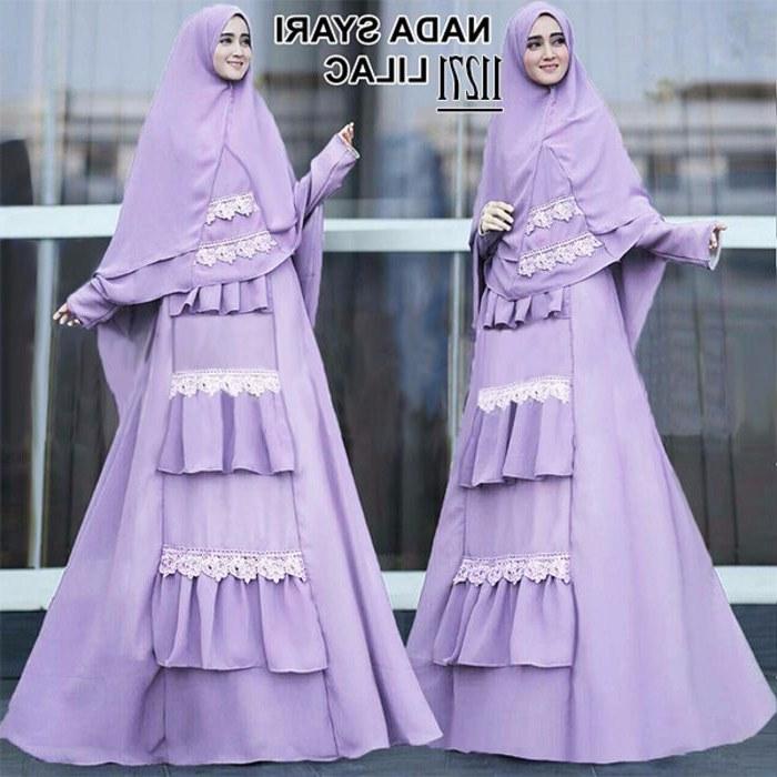 Inspirasi Baju Lebaran Kekinian Tldn Baju Lebaran Jumbo Kekinian Nada Lilac Model Baju Gamis