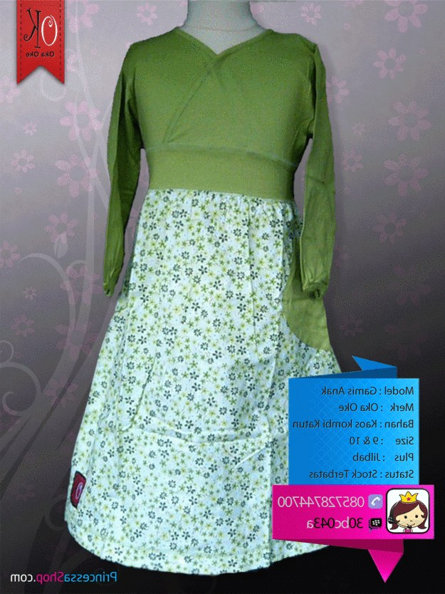 Inspirasi Baju Lebaran Muslim Anak Perempuan 3id6 Model Baju Muslim Anak Perempuan Terbaru