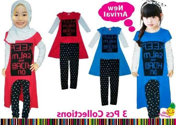 Inspirasi Baju Lebaran Muslim Anak Perempuan D0dg Model Baju Lebaran 2018 Anak Perempuan Laki Laki Terbaru