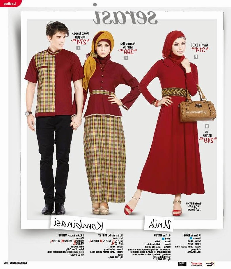 Inspirasi Baju Lebaran Pasangan Suami istri 9fdy Baju Muslim Untuk Pasangan Suami istri
