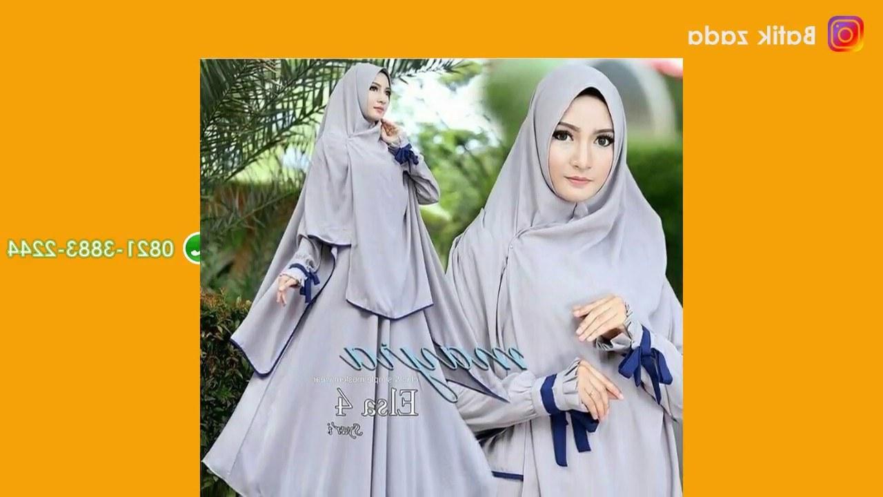 Inspirasi Baju Lebaran Syari 2018 O2d5 Model Gamis Terbaru Baju Lebaran 2018 Model Terkini Hijab