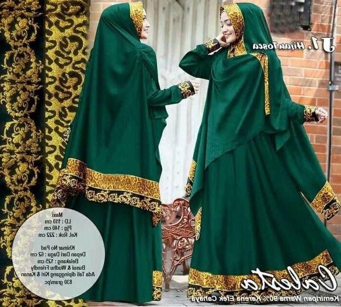 Inspirasi Baju Lebaran Syari 2018 S1du Model Baju Gamis Modern Lebaran 2018 Calesta Syari Hijau