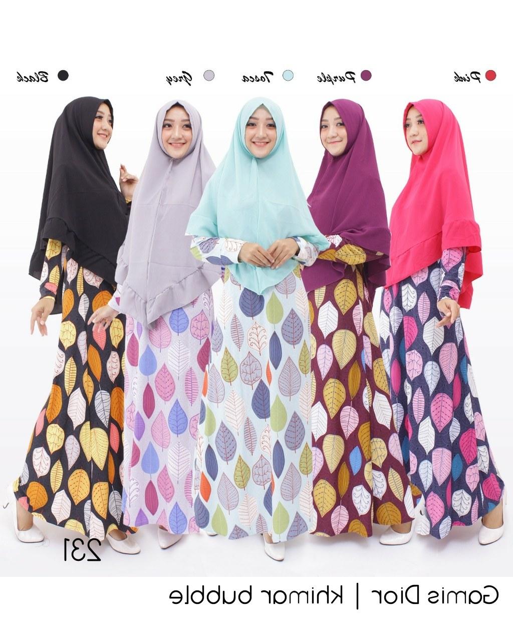 Inspirasi Baju Lebaran Syari 2018 X8d1 Jual Baju Gamis Syari Bahan Dior G231 Cipulir Edisi Maret