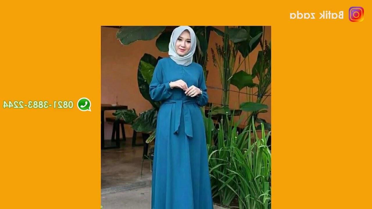 Inspirasi Baju Lebaran Syari 2018 Zwd9 Model Gamis Terbaru Baju Lebaran 2018 Model Polos Elegan