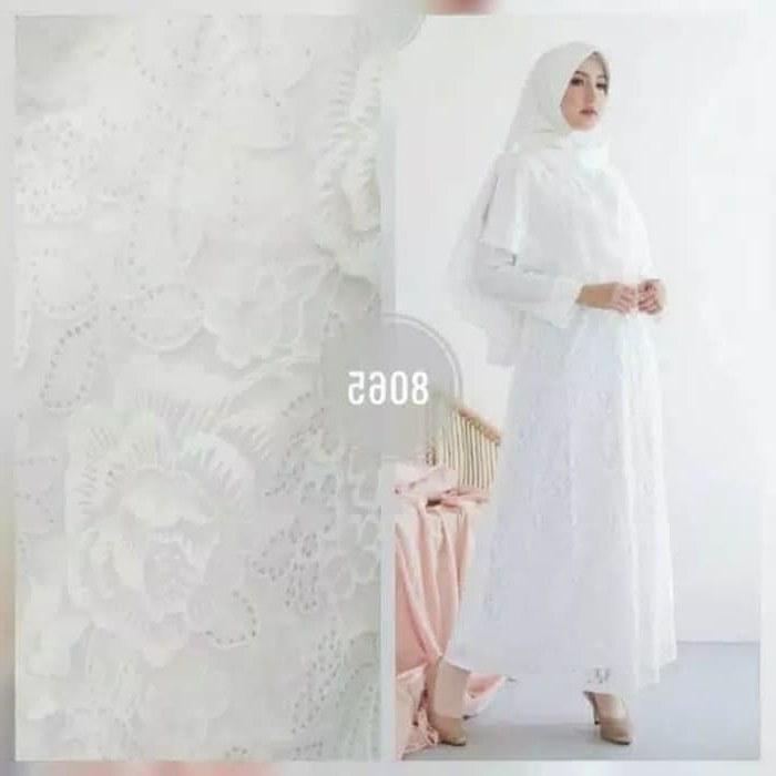 Inspirasi Baju Lebaran Terbaru 2020 Wanita Jxdu Jual 8065 Baju Gamis Putih Wanita Dewasa Syari Lebaran