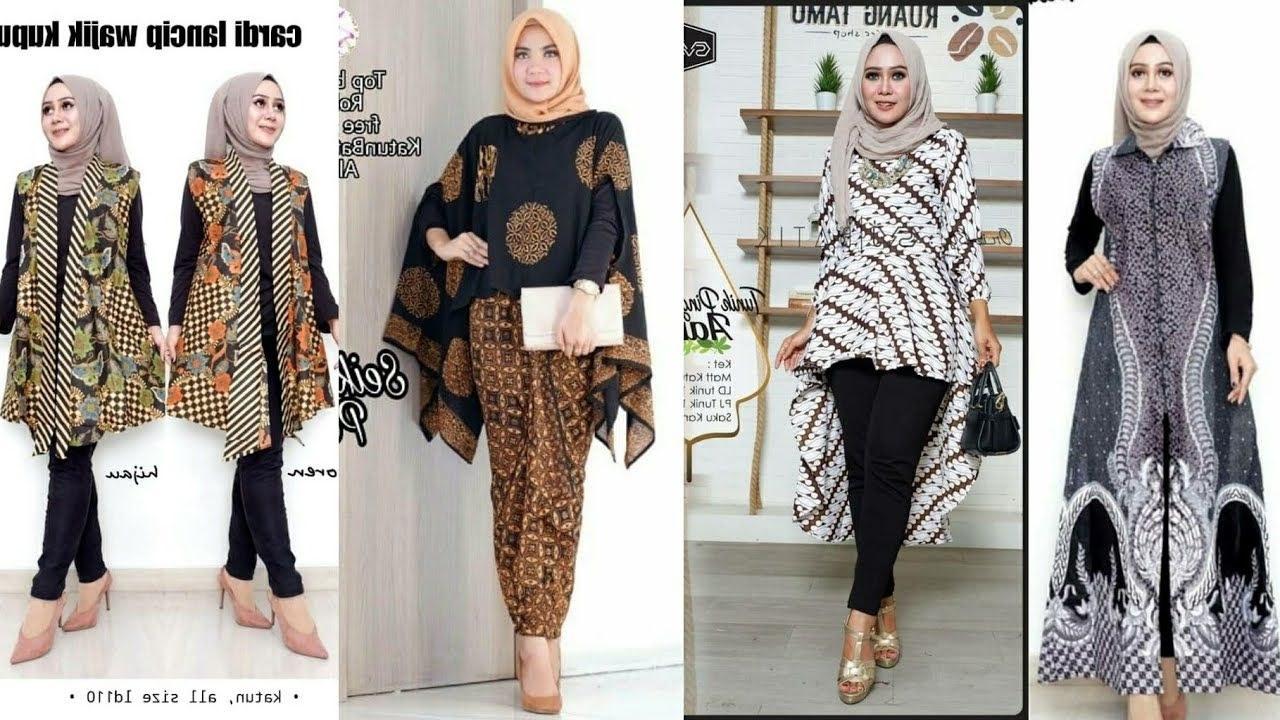 Inspirasi Baju Lebaran Terbaru 2020 Wanita U3dh 30 Model Baju Batik Tunik atasan Wanita Terbaru 2020