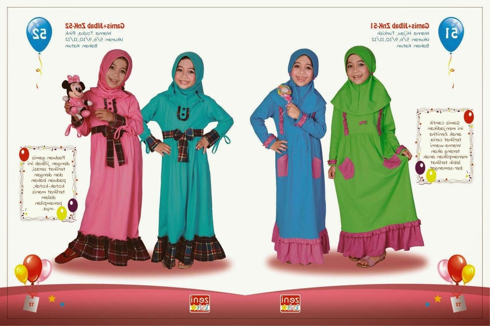 Inspirasi Baju Lebaran Untuk Anak Anak 4pde Baju Lebaran Anak Setelan Gamis Yang Imut Dan Lucu 2015