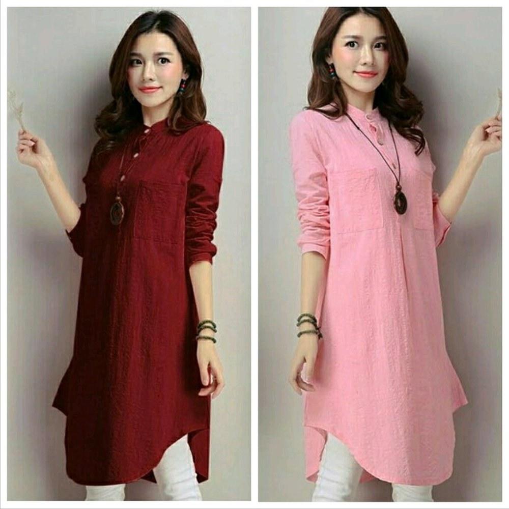 Inspirasi Baju Lebaran Untuk Ibu Menyusui Budm Jual Blouse Wanita Lengan Panjang Marun Cantik atasan Baju