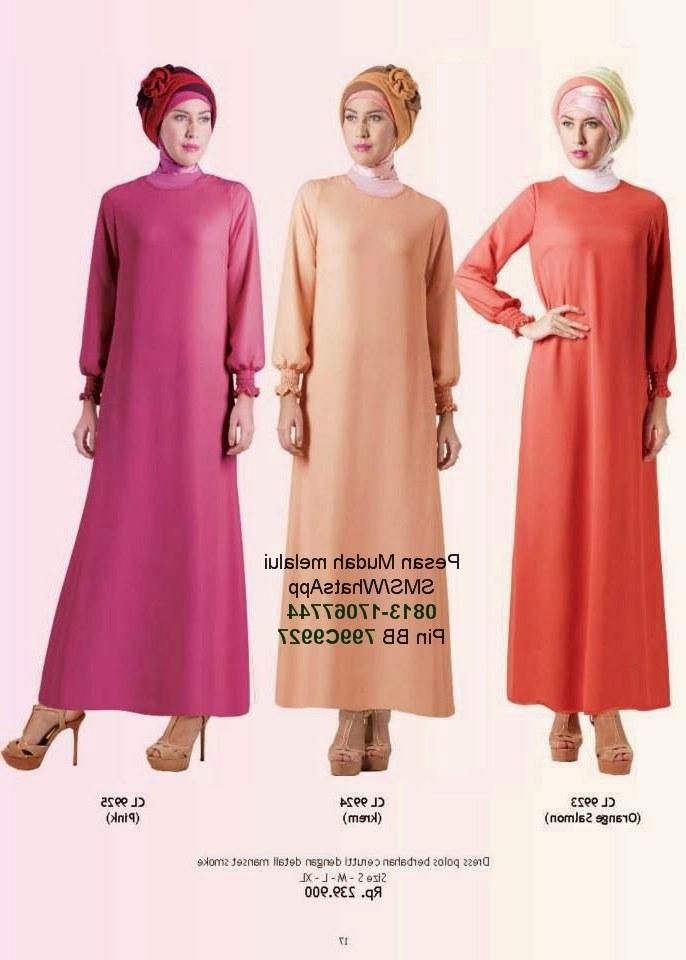 Inspirasi Baju Lebaran Yang Cantik Txdf Gamis Cantik Model Baju Muslim Terbaru