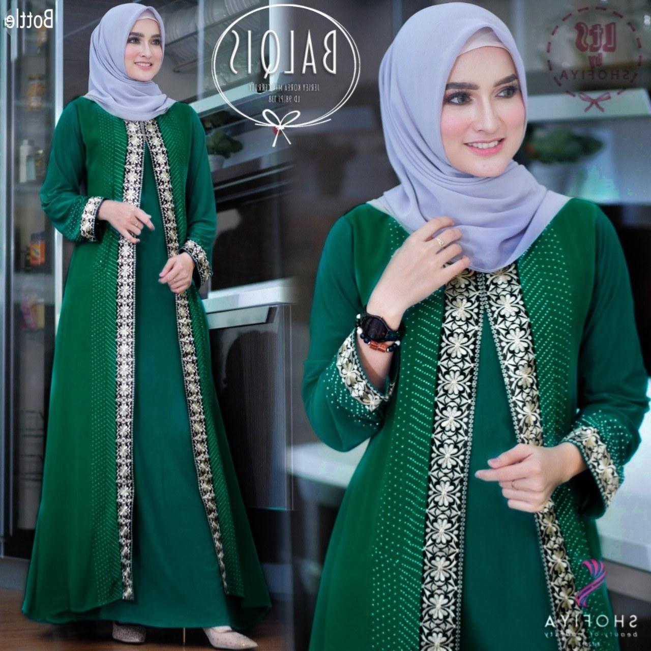 Inspirasi Cari Baju Lebaran D0dg Baju Gamis Lebaran Modern Balqis Katalog Bajugamismu