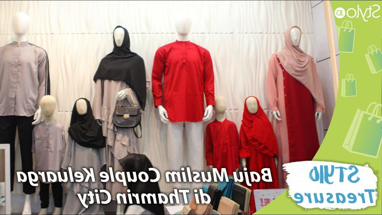 Inspirasi Desain Baju Lebaran Keluarga 2019 3id6 Belanja Baju Muslim Couple Model Keluarga Di Thamrin City