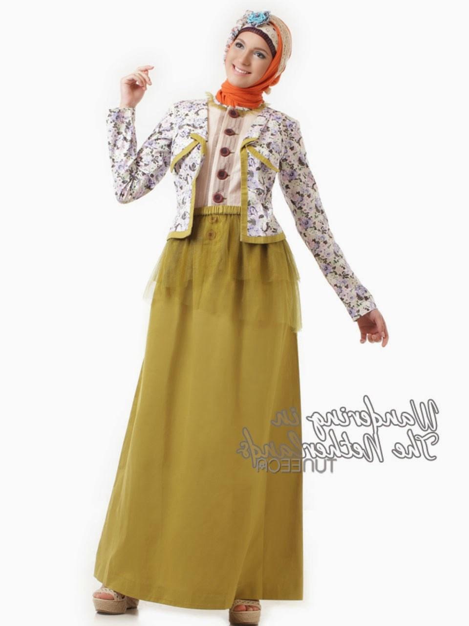 Inspirasi Foto Baju Lebaran 8ydm 12 Contoh Model Gamis Muslim Lebaran Terbaru Kumpulan