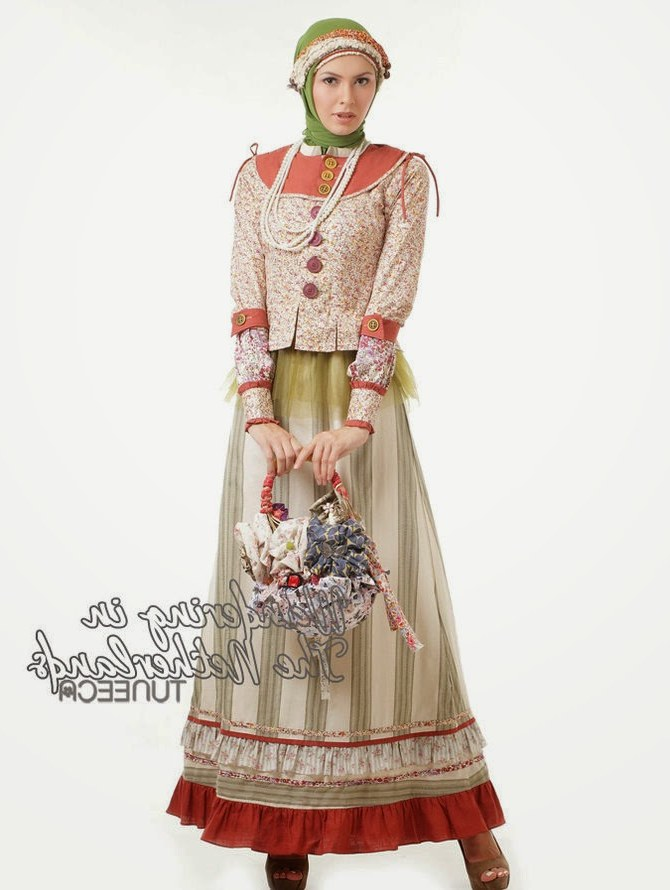 Inspirasi Foto Baju Lebaran Gdd0 12 Contoh Model Gamis Muslim Lebaran Terbaru Kumpulan