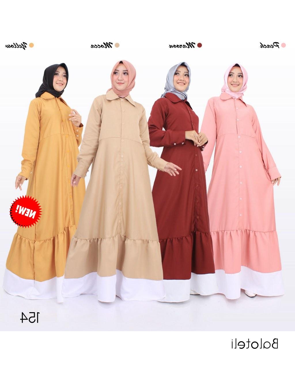 Inspirasi Model Baju Lebaran 2018 Tanah Abang O2d5 Jual Baju Gamis Tanpa Khimar Baloteli Polos G154 Tanah