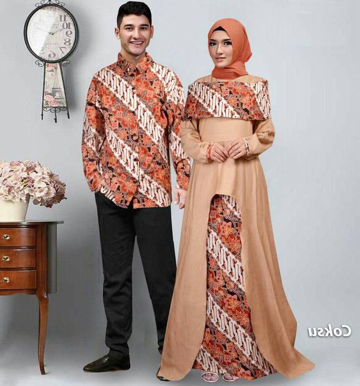 Inspirasi Model Baju Lebaran 2018 Terbaru S1du Baju Lebaran Terbaru 2018 Couple Batik Sabna Coksu Model