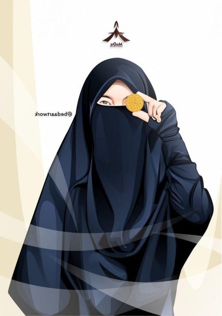 Inspirasi Muslimah Kartun Bercadar Budm 75 Gambar Kartun Muslimah Cantik Dan Imut Bercadar