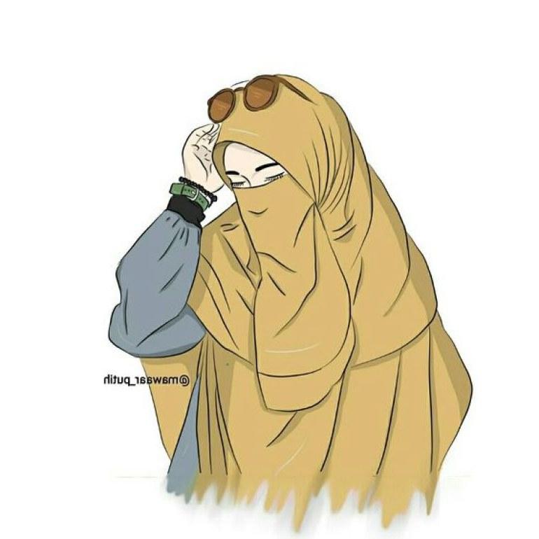 Inspirasi Muslimah Kartun Cantik Dddy 75 Gambar Kartun Muslimah Cantik Dan Imut Bercadar