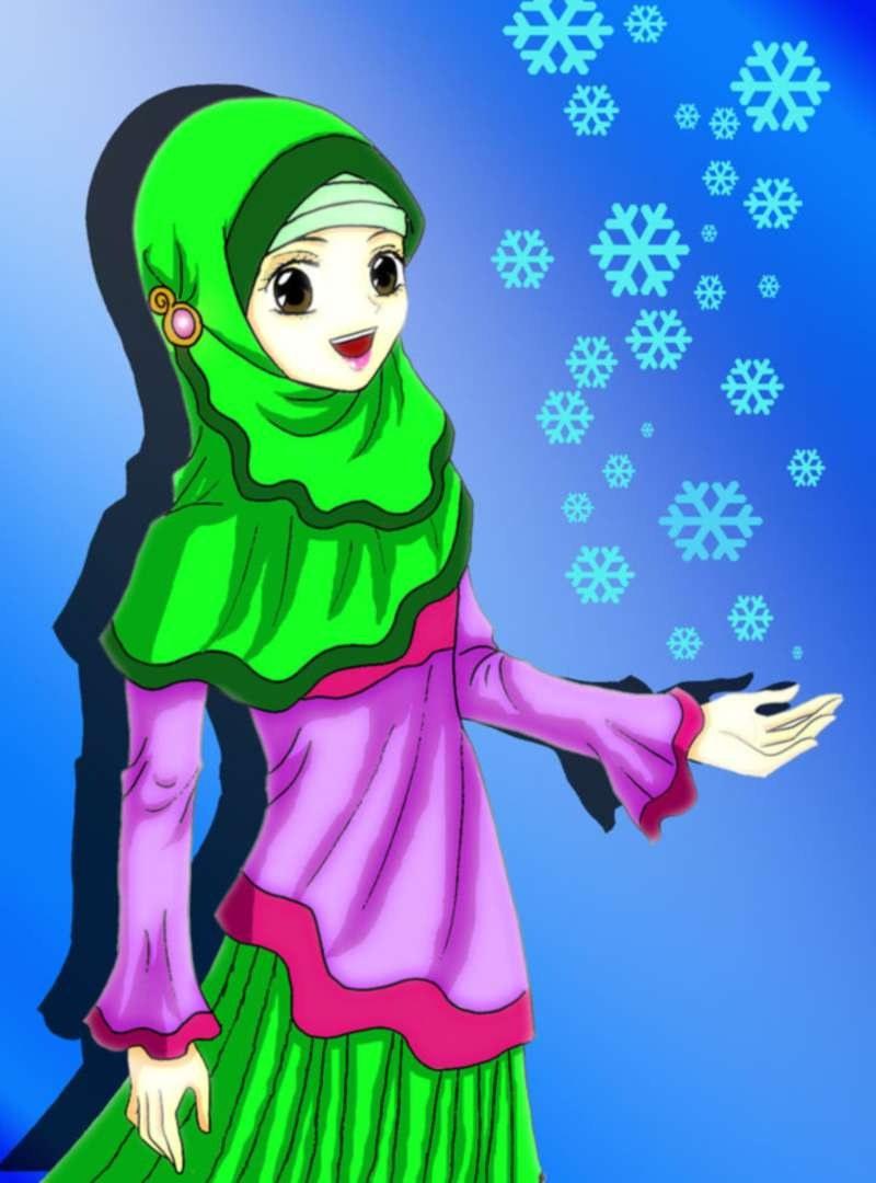 Inspirasi Muslimah Kartun Cantik Tqd3 14 Kartun Muslimah Imut Membawa Bunga Anak Cemerlang