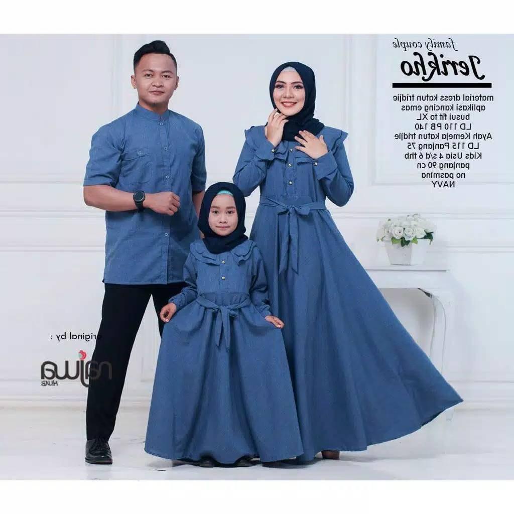 Model Baju Lebaran 2019 Keluarga 87dx Couple Keluarga Jerikho ori by Najwa Katalog Bajugamismu