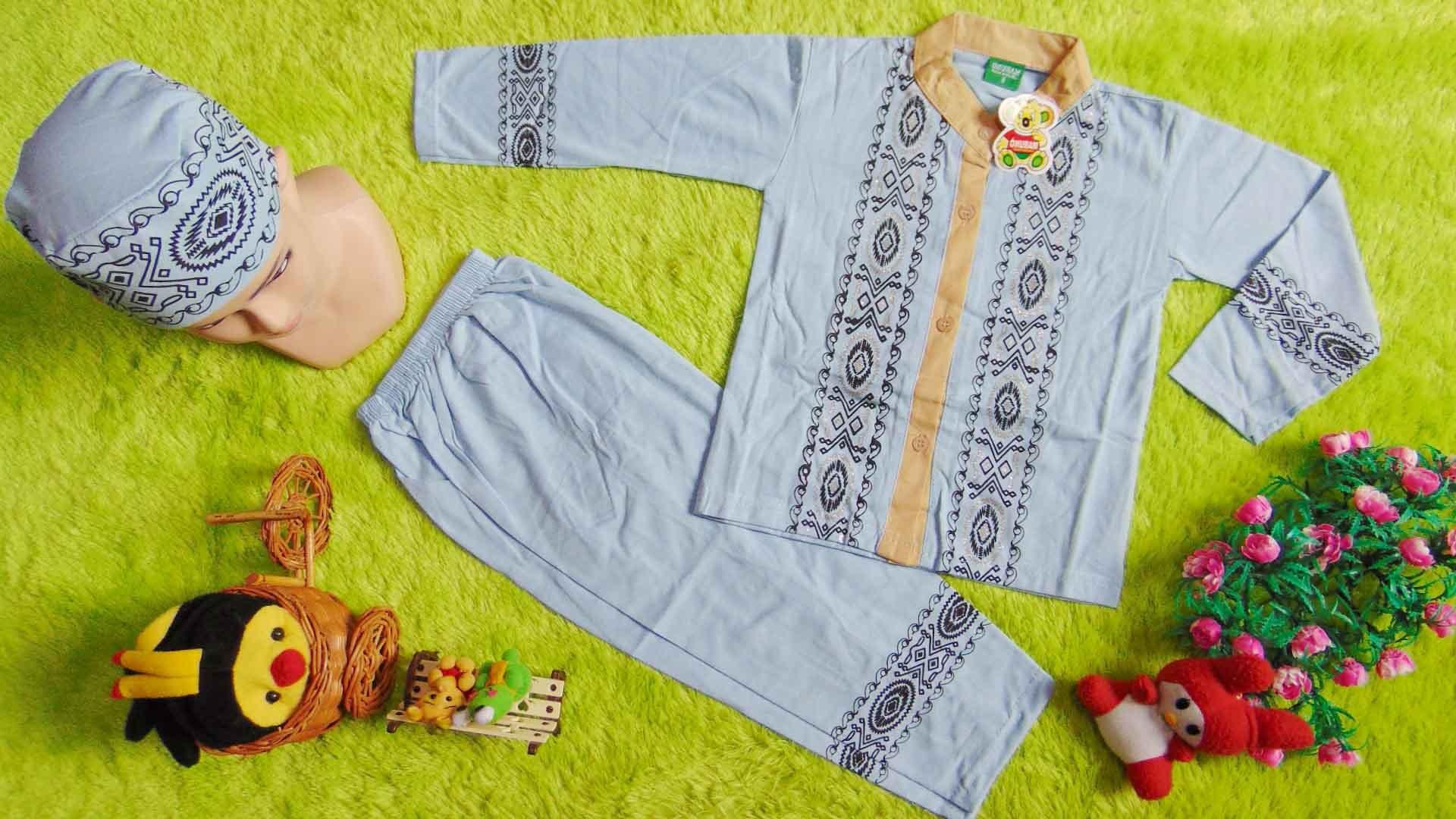 Model Baju Lebaran Anak Laki Laki Rldj Paling Laris Setelan Baju Koko Muslim Lebaran Ramadhan