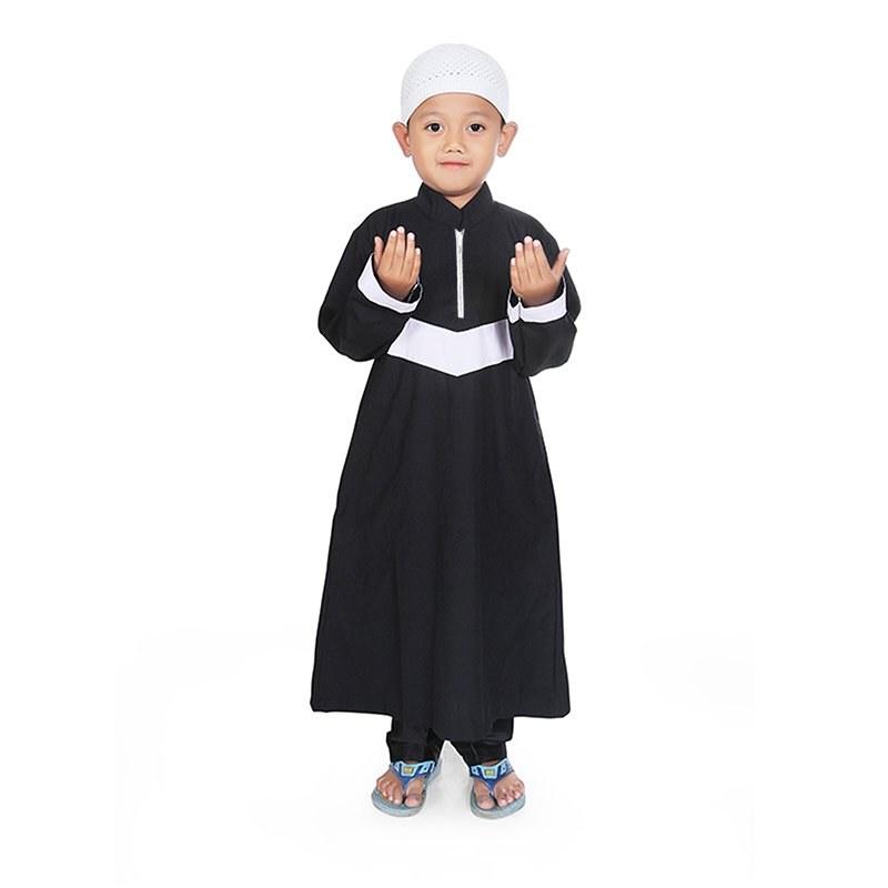 Model Baju Lebaran Anak Laki Wddj Jual Bajuyuli Gamis Koko Anak Laki Cowok Strip V Putih