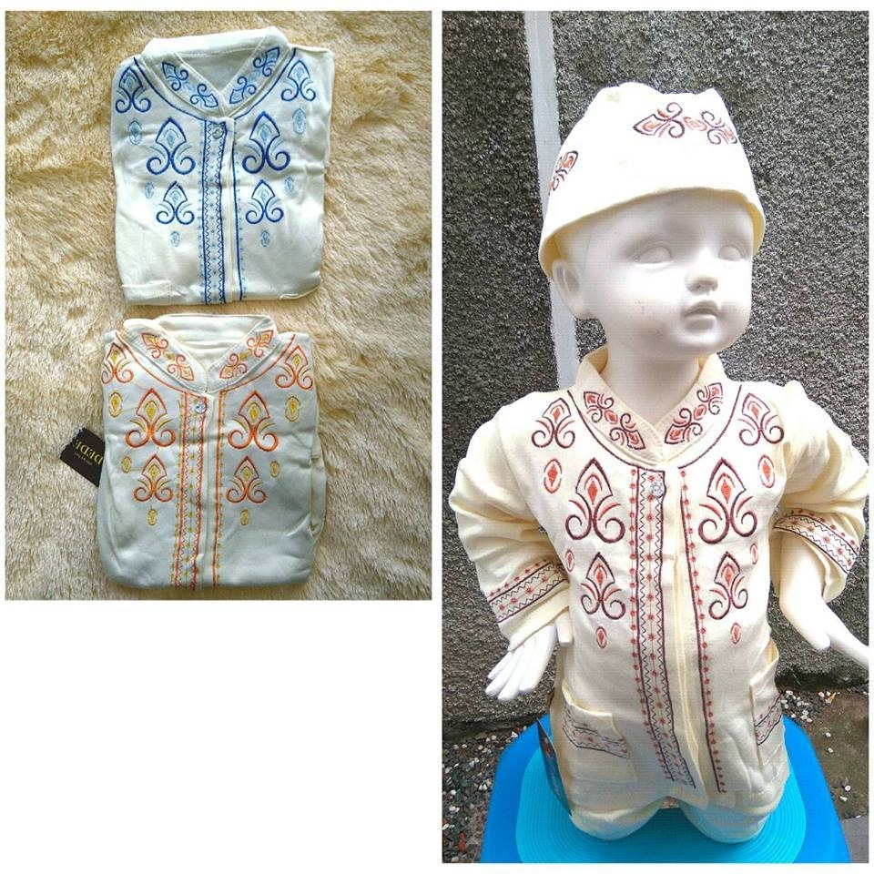 Model Baju Lebaran Bayi 9fdy Jual Beli Set Koko Krem Bordir Baju Koko Bayi Baju