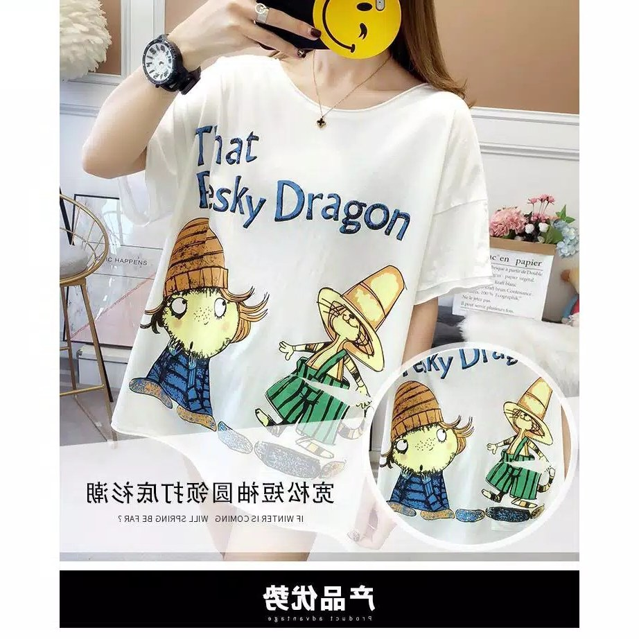 Model Baju Lebaran Big Size Xtd6 Baju atasan Kaos Jumbo Big Size Dragon 2 Usahaimport